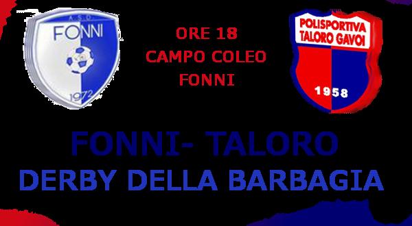"""FONNI – TALORO GAVOI """"DERBY DELLA BARBAGIA"""" DERBY DI SOLIDARIETA'"""