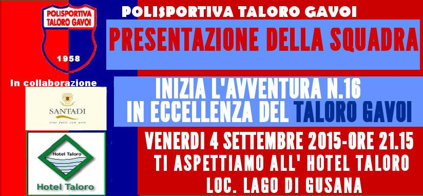 PRESENTAZIONE DELLA SQUADRA 2015/2016 CAMPIONATO DI ECCELLENZA