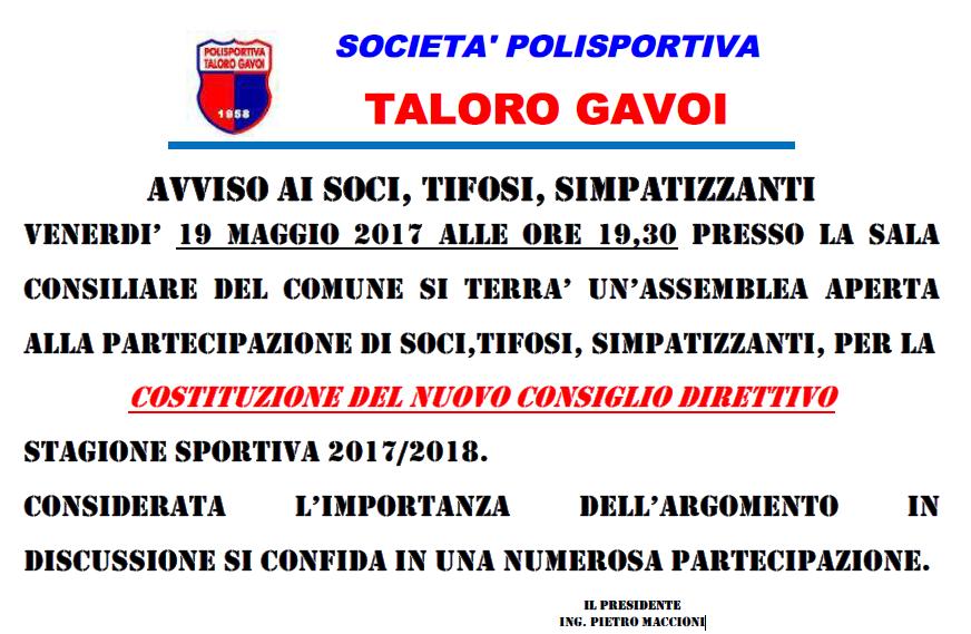 ASSEMBLEA SOCI TALORO GAVOI