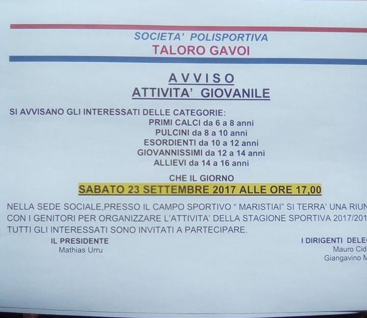 RIUNIONE-SETTORE-GIOVANILE -SABATO 23 SEDE MARESTIAI