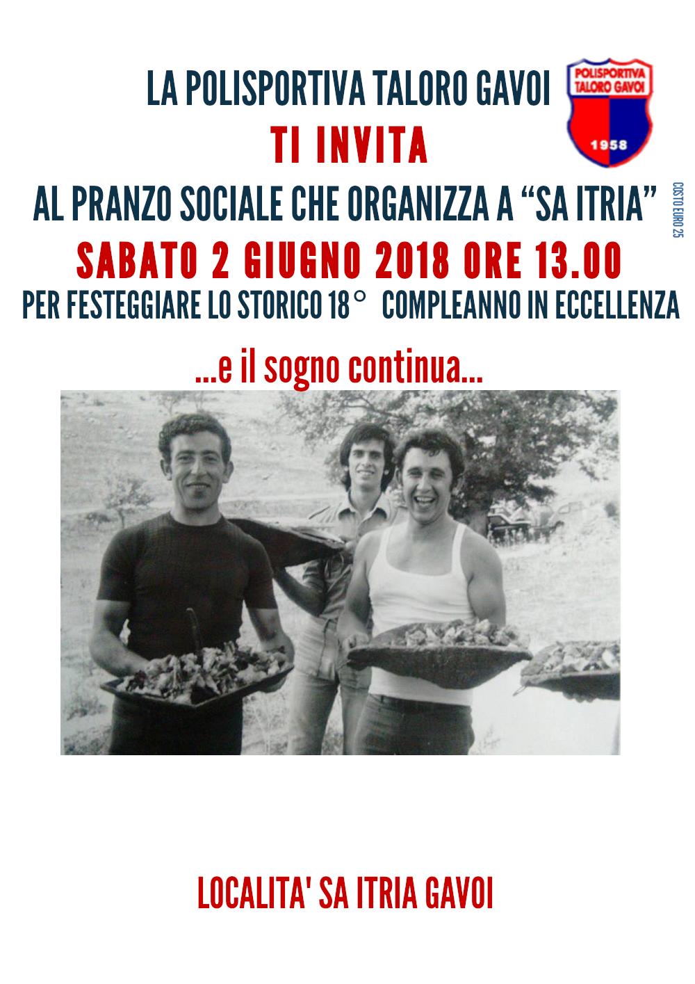 Festa del 18° compleanno SA ITRIA