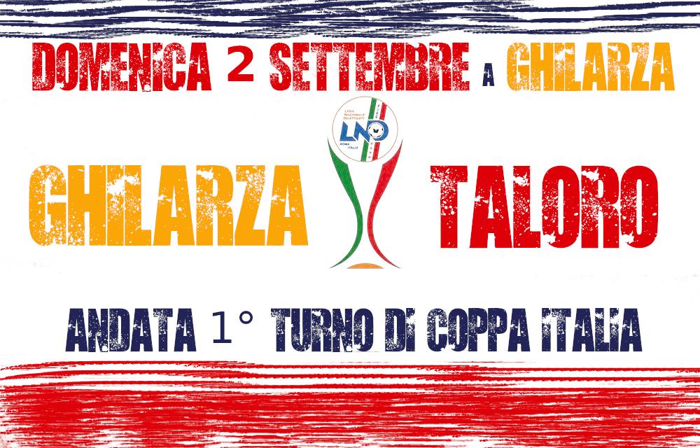 GHILARZA – TALORO: ORE 17.30 COPPA ITALIA